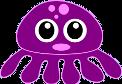 Lustiger Oktopus mit großen Augen