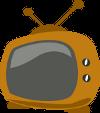 Fernsehapparat im Comic-Style