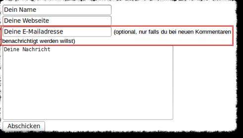Bildschirmfoto von Benachrichtigungsfunktion